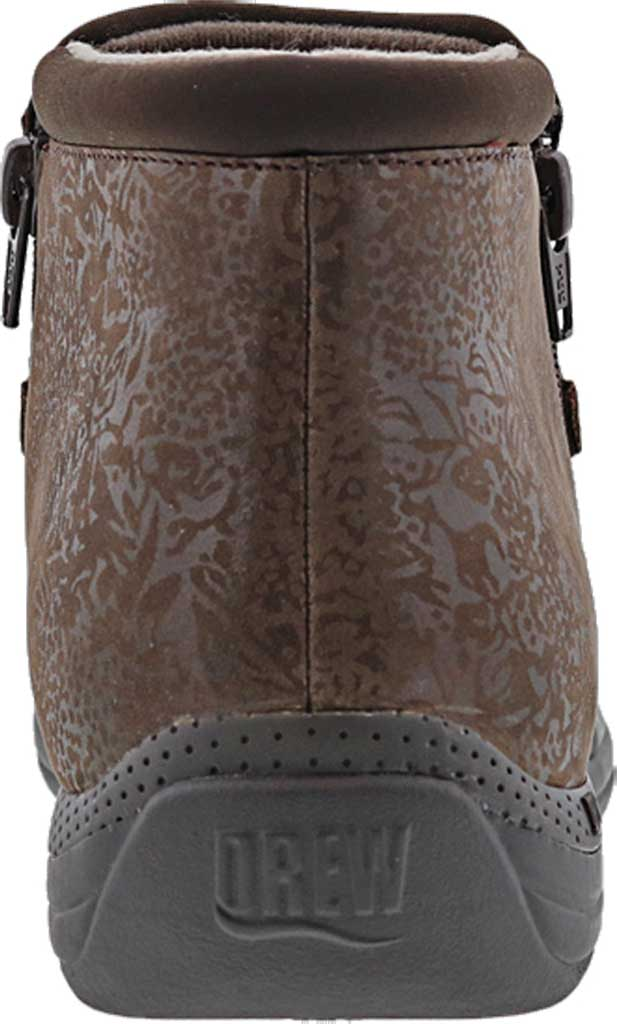 Women's Drew Blossom Bootie, Brown Foil Leather, large, image 4