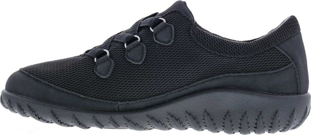 Women's Drew Shine Sneaker, Black Mesh/Combo, large, image 3