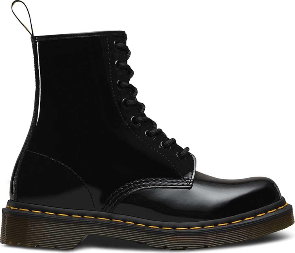 Women's Dr. Martens 1460 8-Eye Boot, Black Patent Lamper, large, image 2