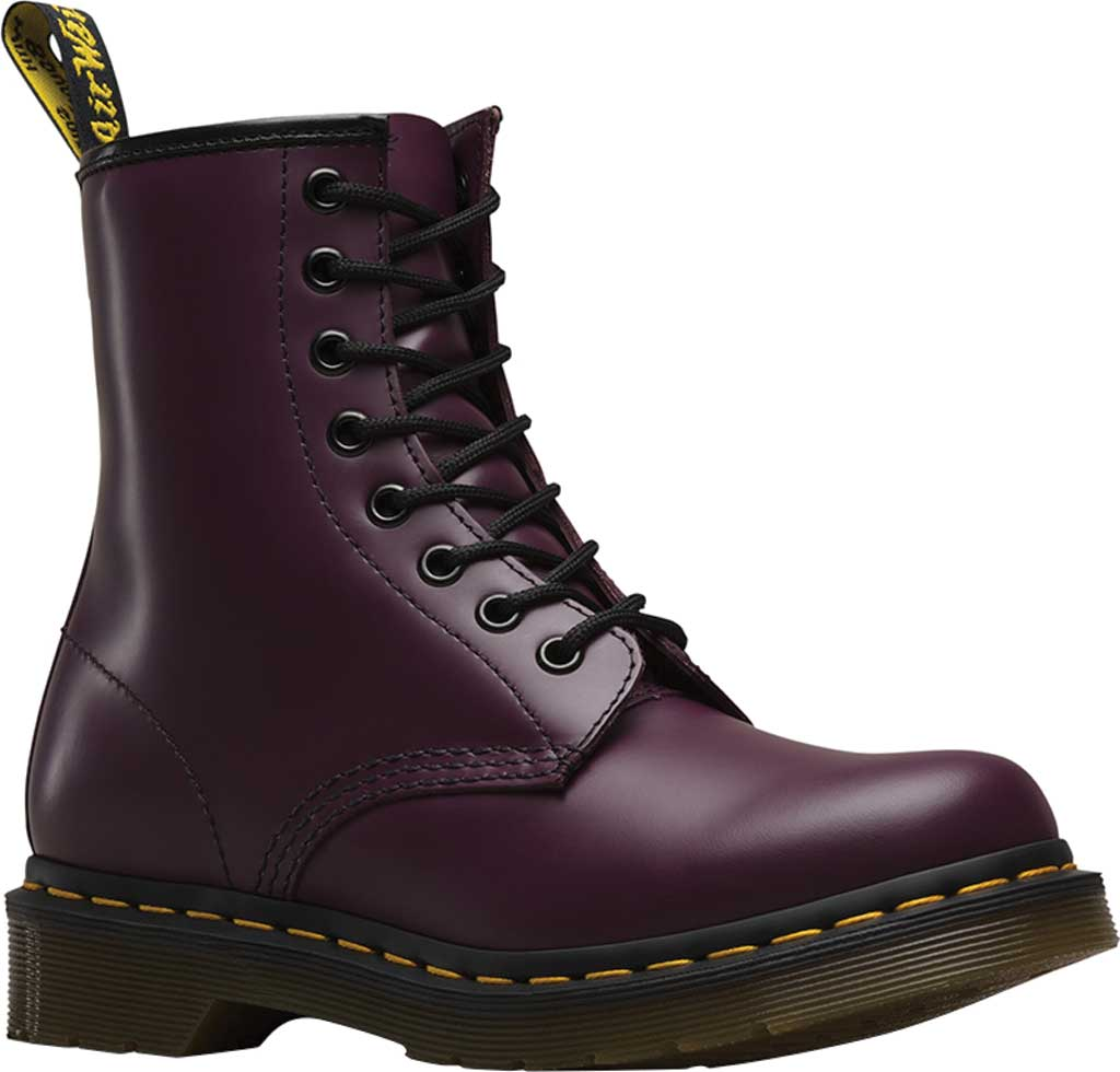 Women's Dr. Martens 1460 8-Eye Boot, Purple Smooth, large, image 1