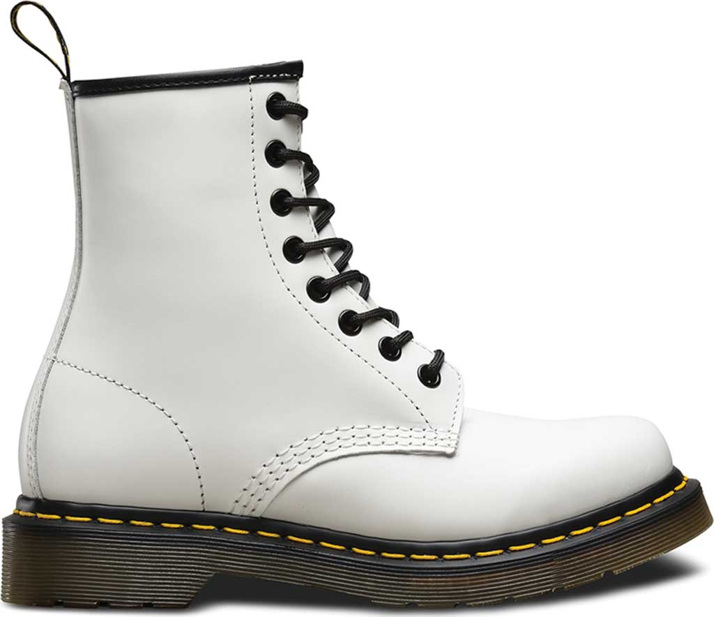 Women's Dr. Martens 1460 8-Eye Boot, White Smooth, large, image 2
