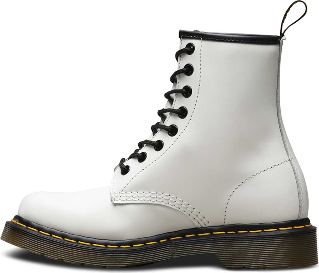 Women's Dr. Martens 1460 8-Eye Boot, White Smooth, large, image 3