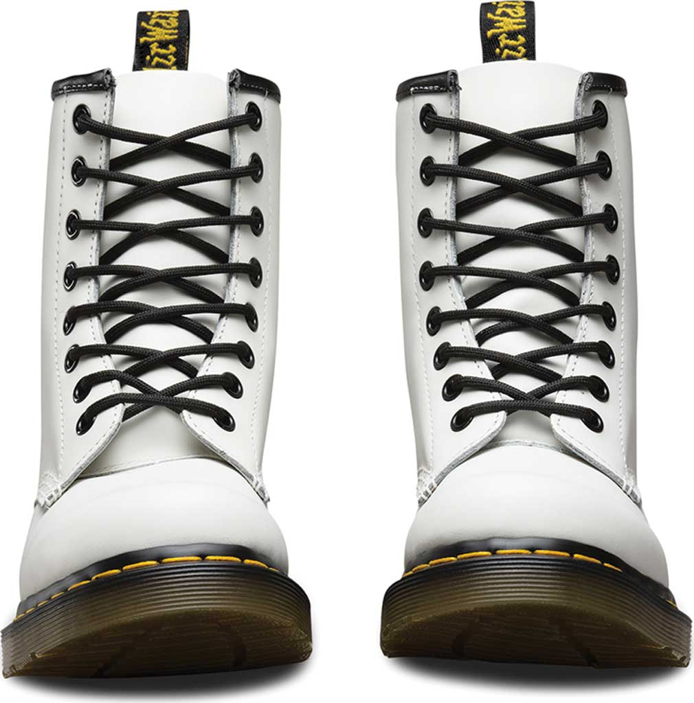 Women's Dr. Martens 1460 8-Eye Boot, White Smooth, large, image 4