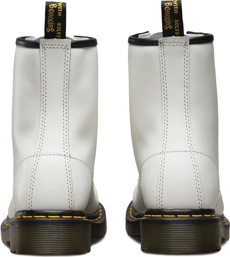Women's Dr. Martens 1460 8-Eye Boot W, White Smooth, large, image 5