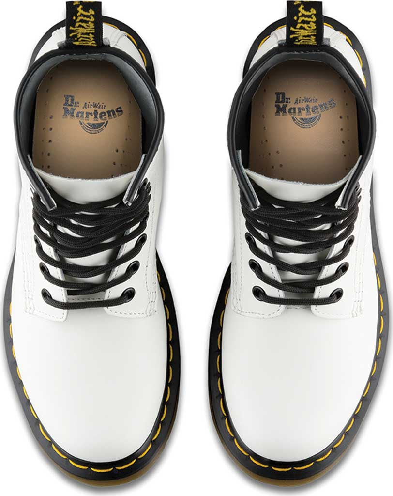 Women's Dr. Martens 1460 8-Eye Boot W, White Smooth, large, image 6