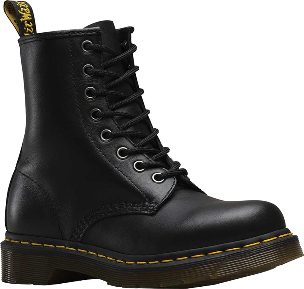 Women's Dr. Martens 1460 8-Eye Boot, Black Nappa, large, image 1