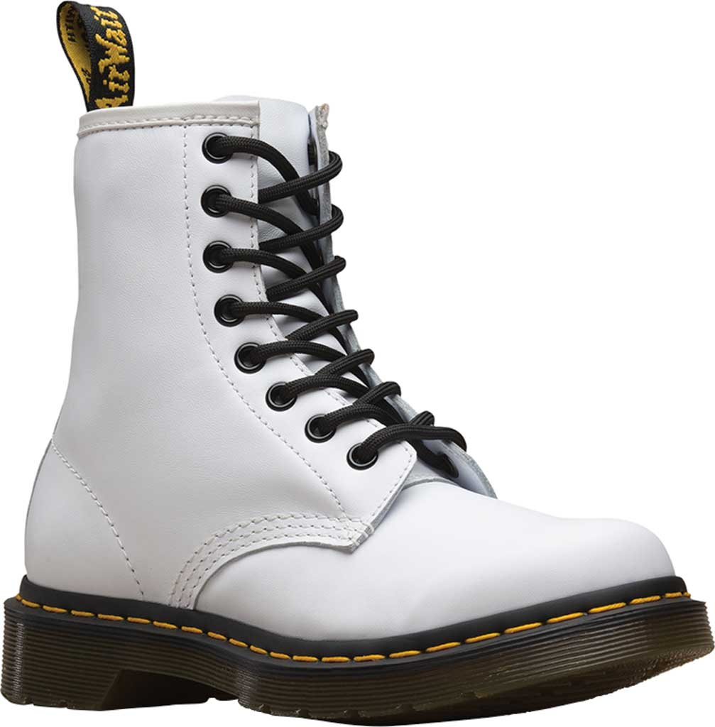 Women's Dr. Martens 1460 8-Eye Boot W, White Softy T Full Grain Leather, large, image 1