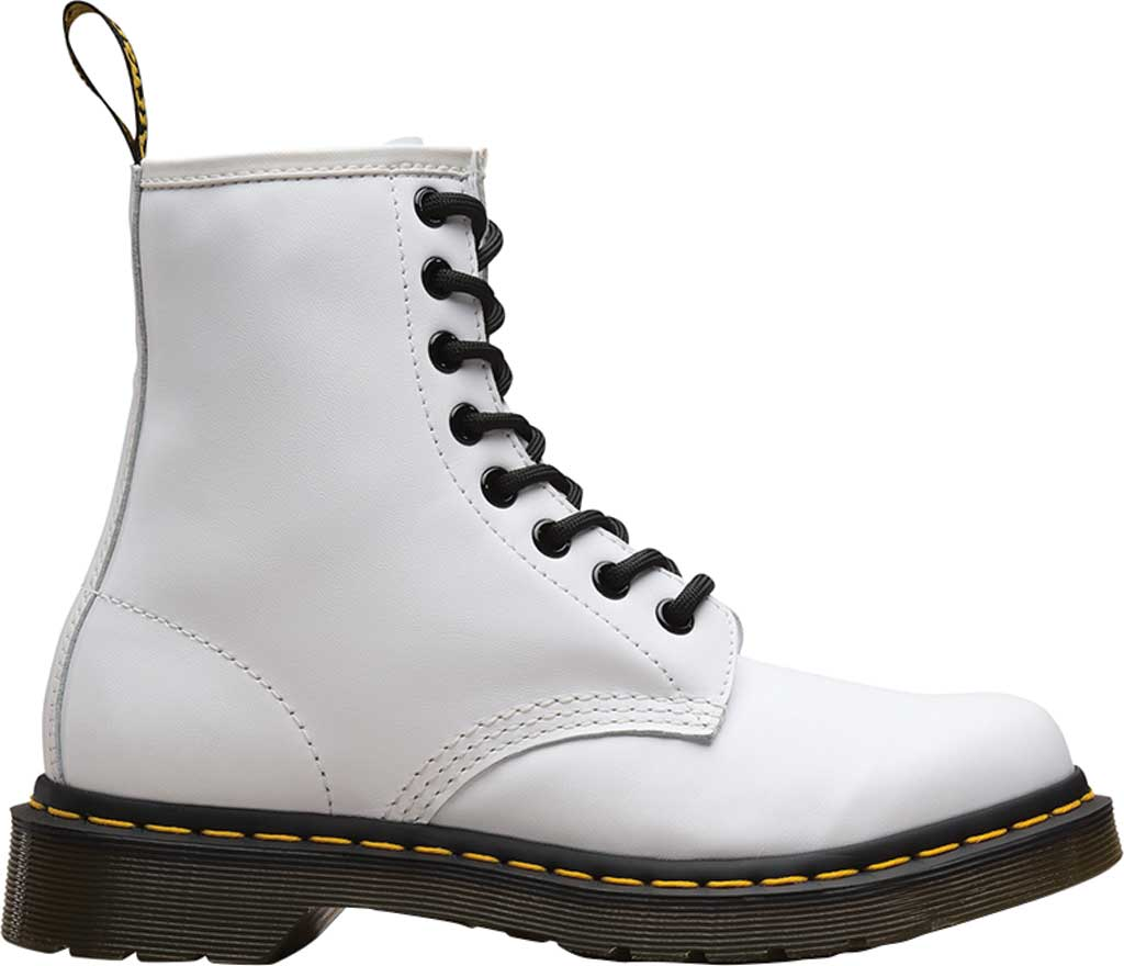 Women's Dr. Martens 1460 8-Eye Boot W, White Softy T Full Grain Leather, large, image 2