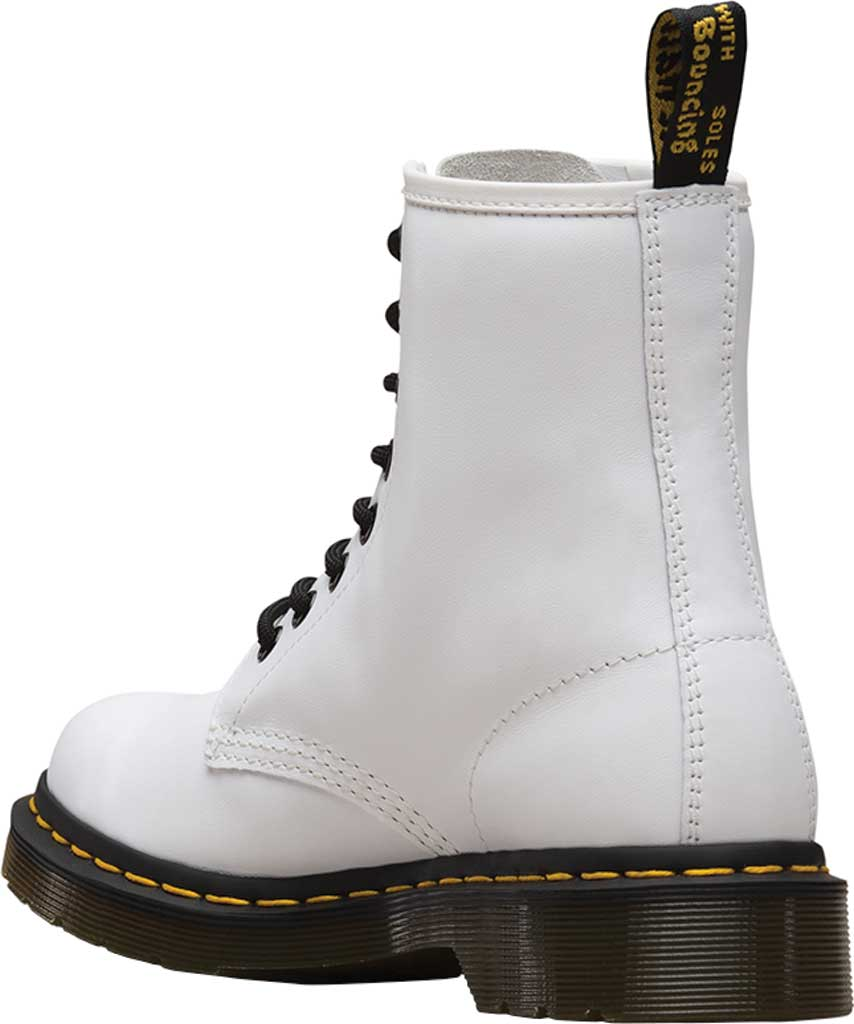 Women's Dr. Martens 1460 8-Eye Boot W, White Softy T Full Grain Leather, large, image 3