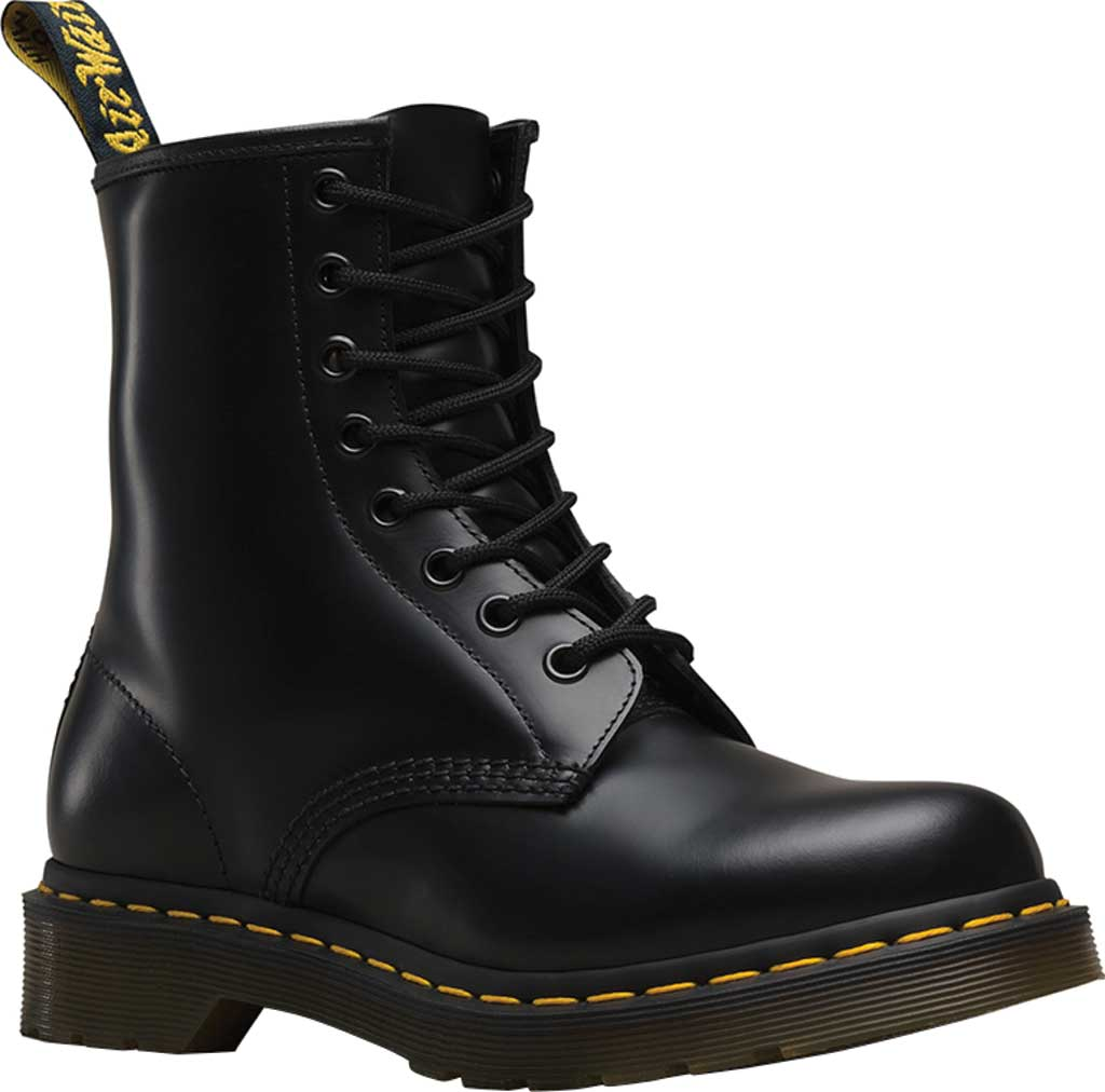 Women's Dr. Martens 1460 8-Eye Boot, Black Smooth, large, image 1