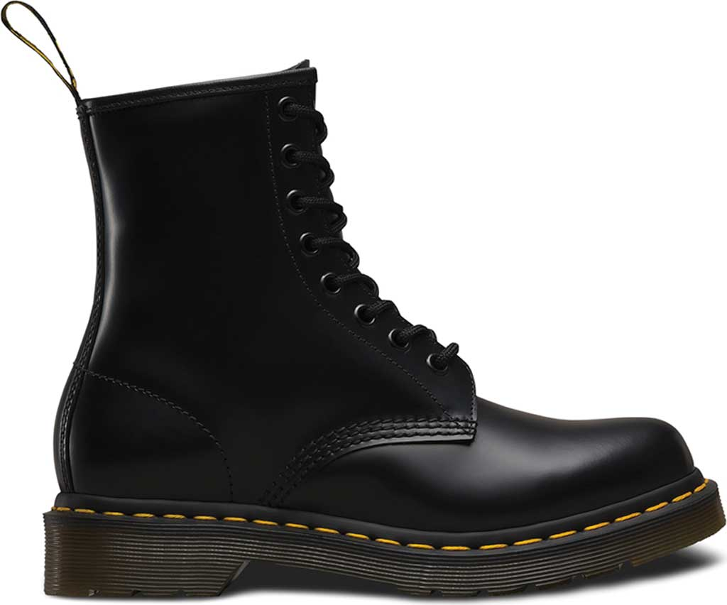 Women's Dr. Martens 1460 8-Eye Boot, Black Smooth, large, image 2