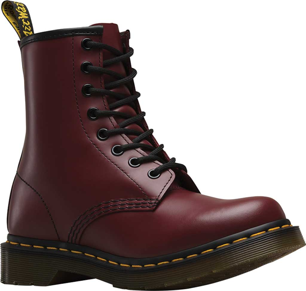 Women's Dr. Martens 1460 8-Eye Boot W, Cherry Red Smooth, large, image 1