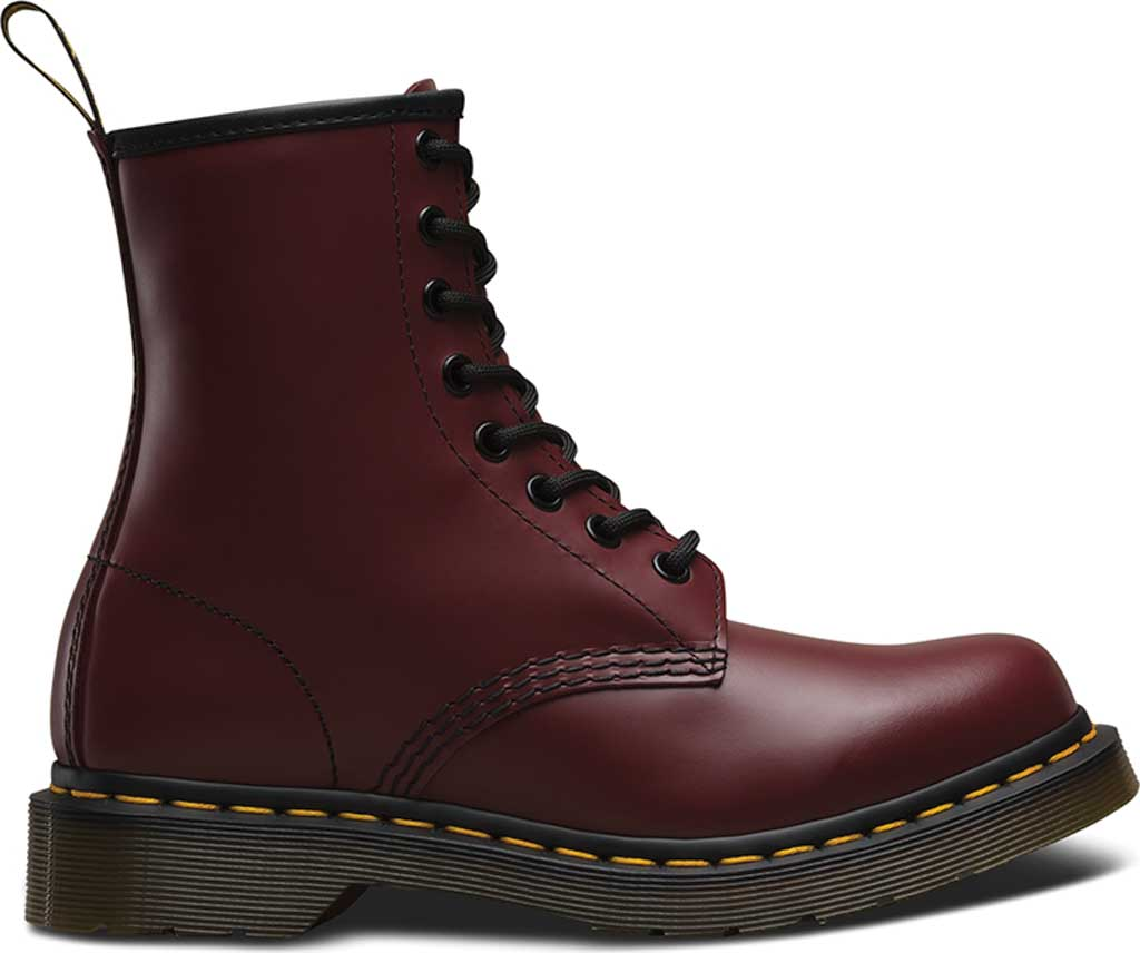 Women's Dr. Martens 1460 8-Eye Boot W, Cherry Red Smooth, large, image 2