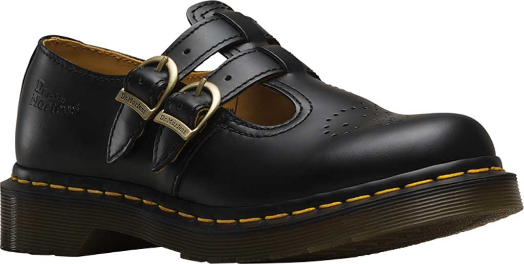 Women's Dr. Martens 8065 Double Strap Mary Jane DML, Black Smooth, large, image 1