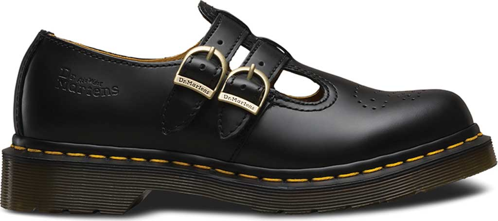 Women's Dr. Martens 8065 Double Strap Mary Jane DML, Black Smooth, large, image 2