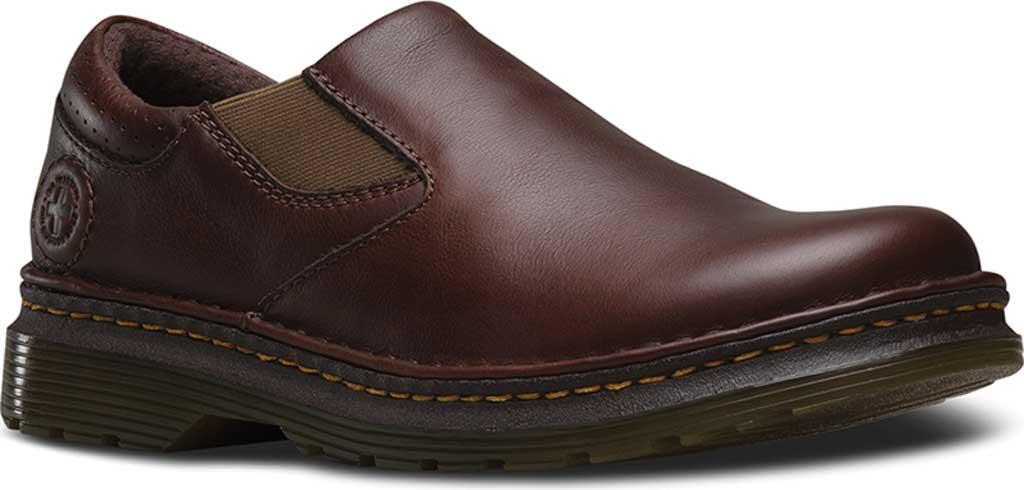 Men's Dr. Martens Robson Orson Plain Toe Slip On Shoe, Dark Brown Overdrive, large, image 1