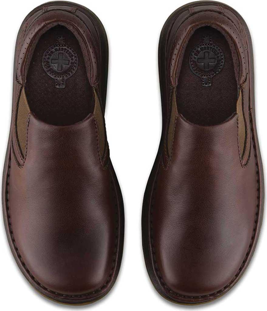 Men's Dr. Martens Robson Orson Plain Toe Slip On Shoe, Dark Brown Overdrive, large, image 6