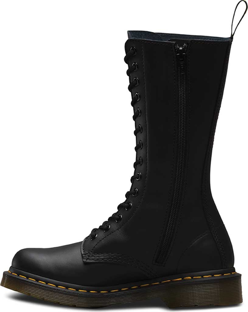 Women's Dr. Martens Embroidery Vonda 14 Eye Boot, Black Softy T, large, image 3