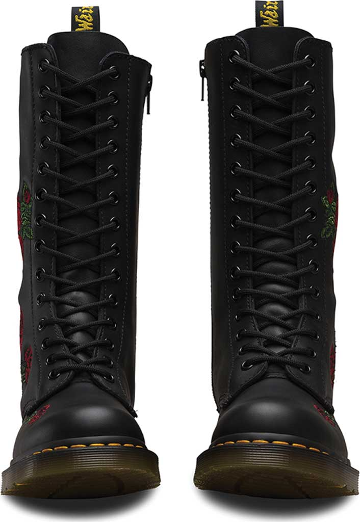 Women's Dr. Martens Embroidery Vonda 14 Eye Boot, Black Softy T, large, image 4