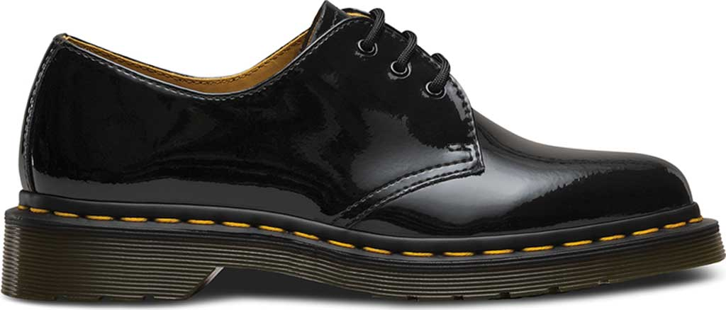Women's Dr. Martens 1461 3-Eye Shoe, Black Patent Lamper, large, image 2
