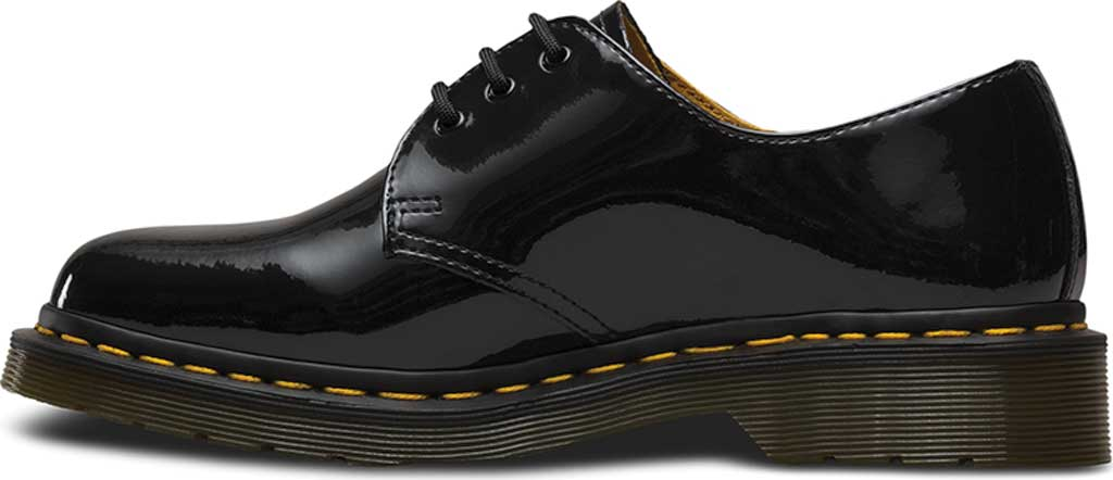 Women's Dr. Martens 1461 3-Eye Shoe, Black Patent Lamper, large, image 3