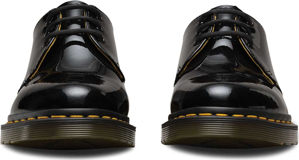 Women's Dr. Martens 1461 3-Eye Shoe, Black Patent Lamper, large, image 4