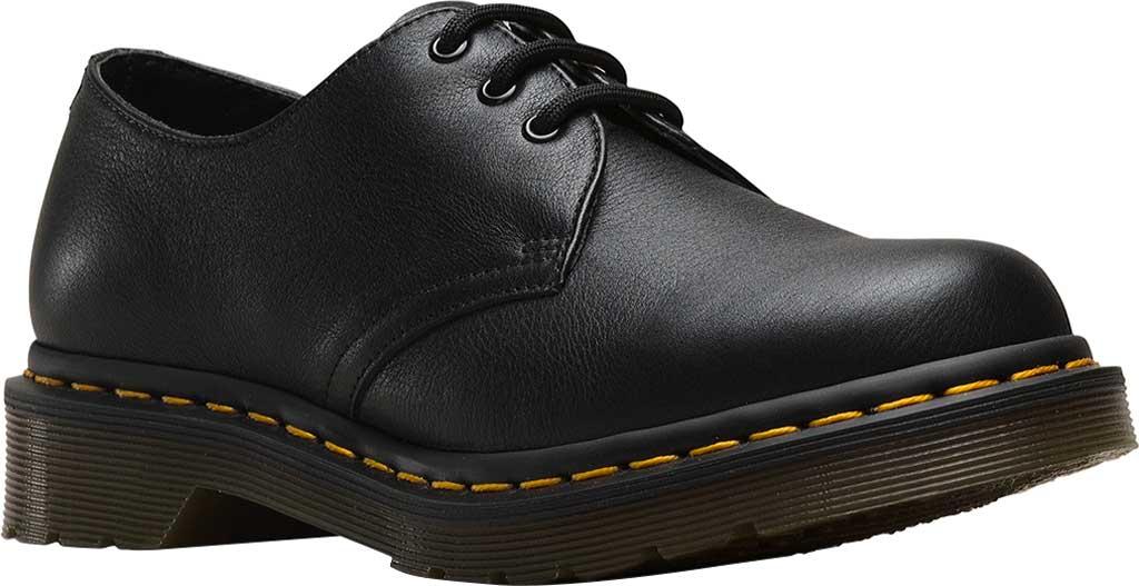 Women's Dr. Martens 1461 3-Eye Shoe, Black Virginia Standard, large, image 1
