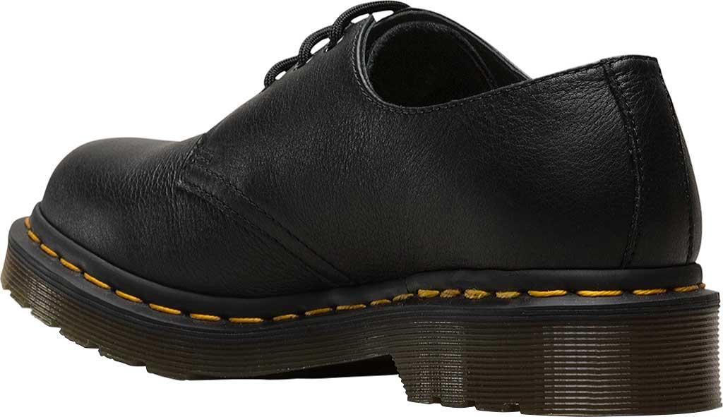 Women's Dr. Martens 1461 3-Eye Shoe, Black Virginia Standard, large, image 3