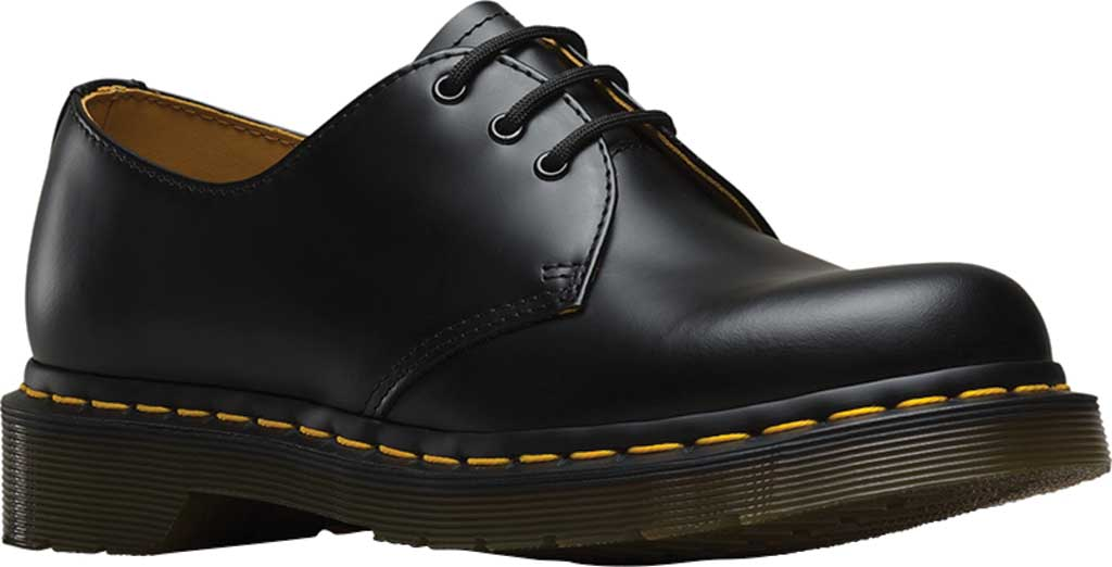 Women's Dr. Martens 1461 3-Eye Shoe, Black Smooth, large, image 1