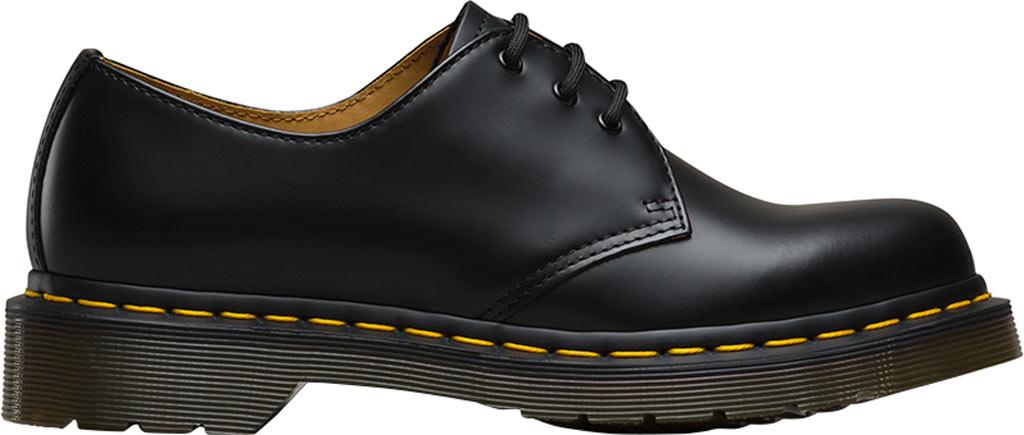 Women's Dr. Martens 1461 3-Eye Shoe, Black Smooth, large, image 2