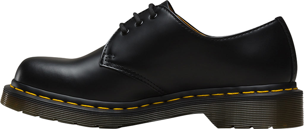 Women's Dr. Martens 1461 3-Eye Shoe, Black Smooth, large, image 3