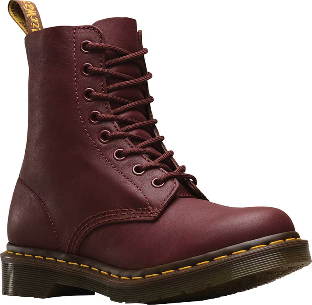Dr. Martens Pascal 8-Eye Boot, Cherry Red Virginia, large, image 1