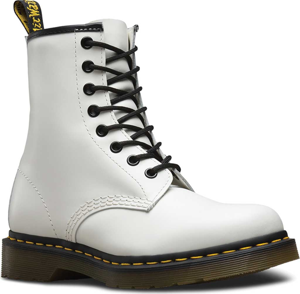 Dr. Martens 1460 8-Eye Boot, White Smooth, large, image 1