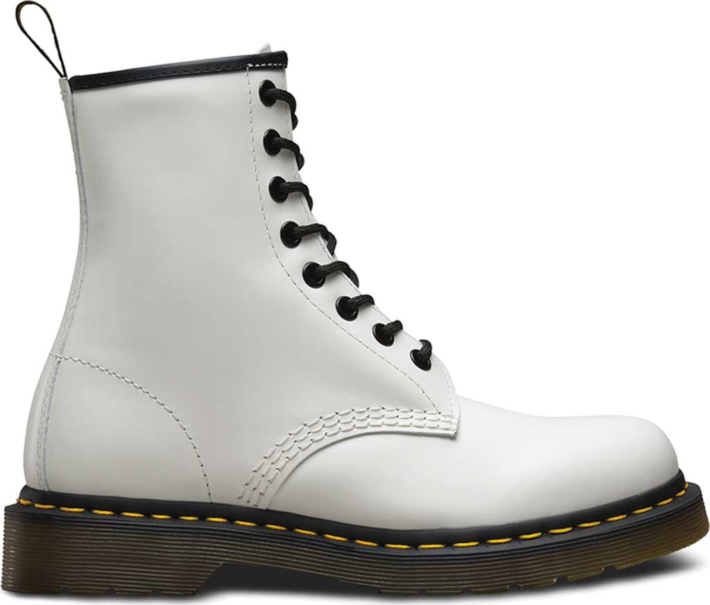 Dr. Martens 1460 8-Eye Boot, White Smooth, large, image 2