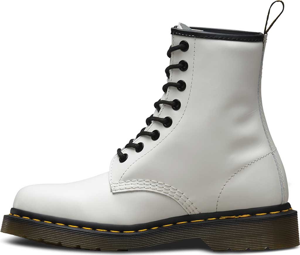 Dr. Martens 1460 8-Eye Boot, White Smooth, large, image 3