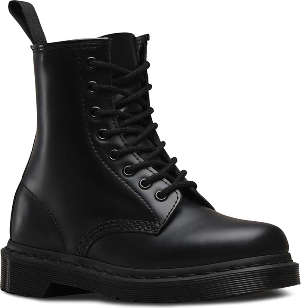 Dr. Martens 1460 8-Eye Boot, Black Smooth Mono, large, image 1