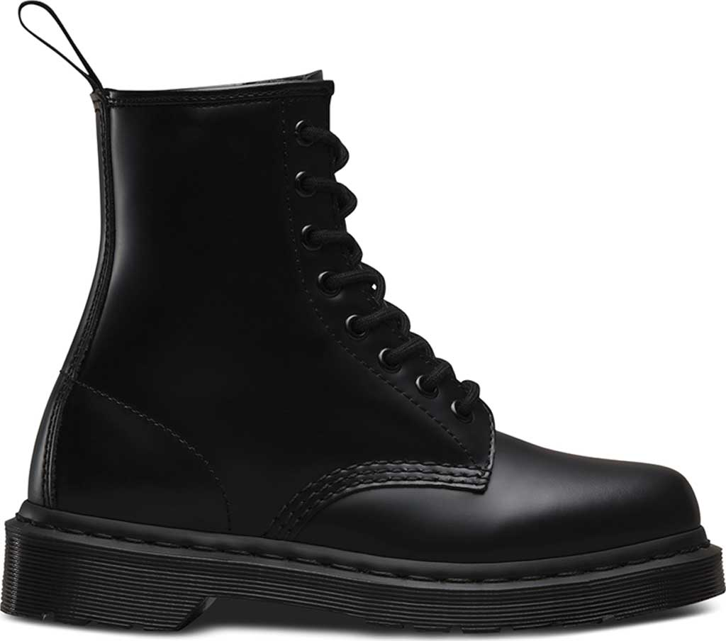 Dr. Martens 1460 8-Eye Boot, Black Smooth Mono, large, image 2