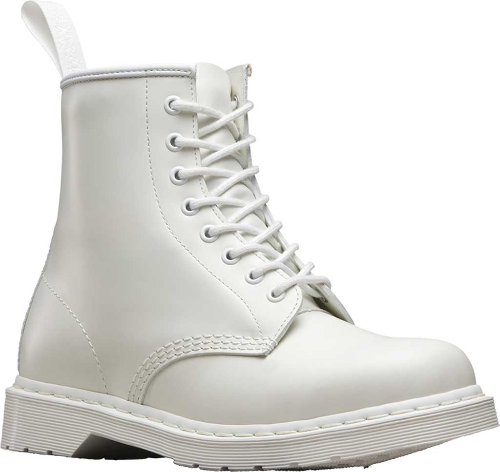 Dr. Martens 1460 8-Eye Boot, White Smooth Mono, large, image 1