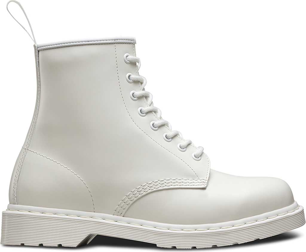 Dr. Martens 1460 8-Eye Boot, White Smooth Mono, large, image 2