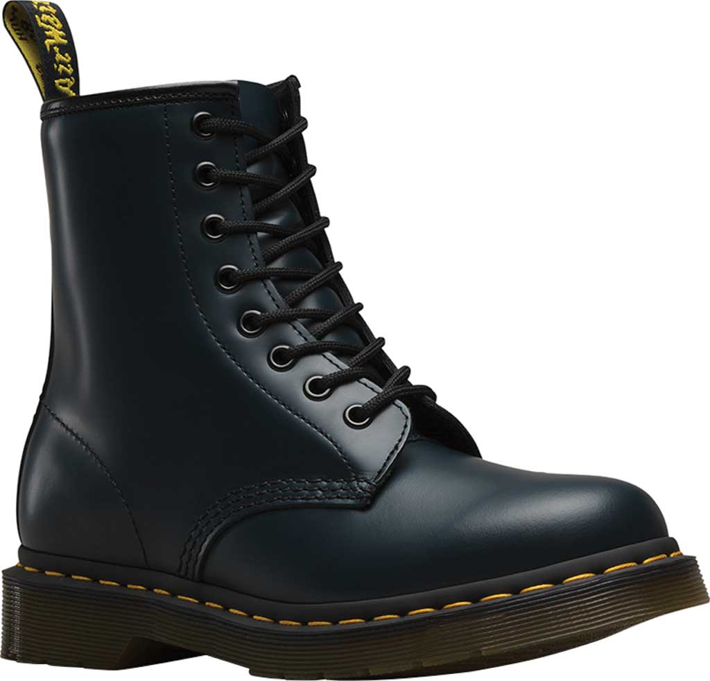 Dr. Martens 1460 8-Eye Boot, Navy/Navy Smooth Leather, large, image 1