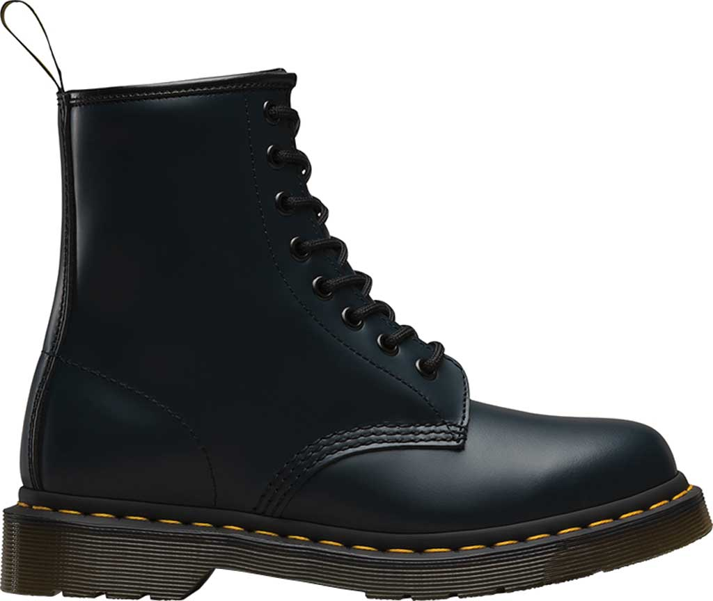 Dr. Martens 1460 8-Eye Boot, Navy/Navy Smooth Leather, large, image 2