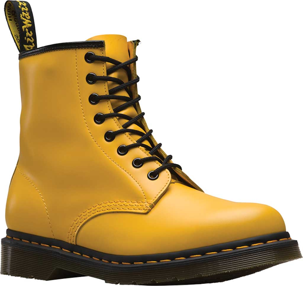 Dr. Martens 1460 8-Eye Boot, Yellow Smooth Leather, large, image 1