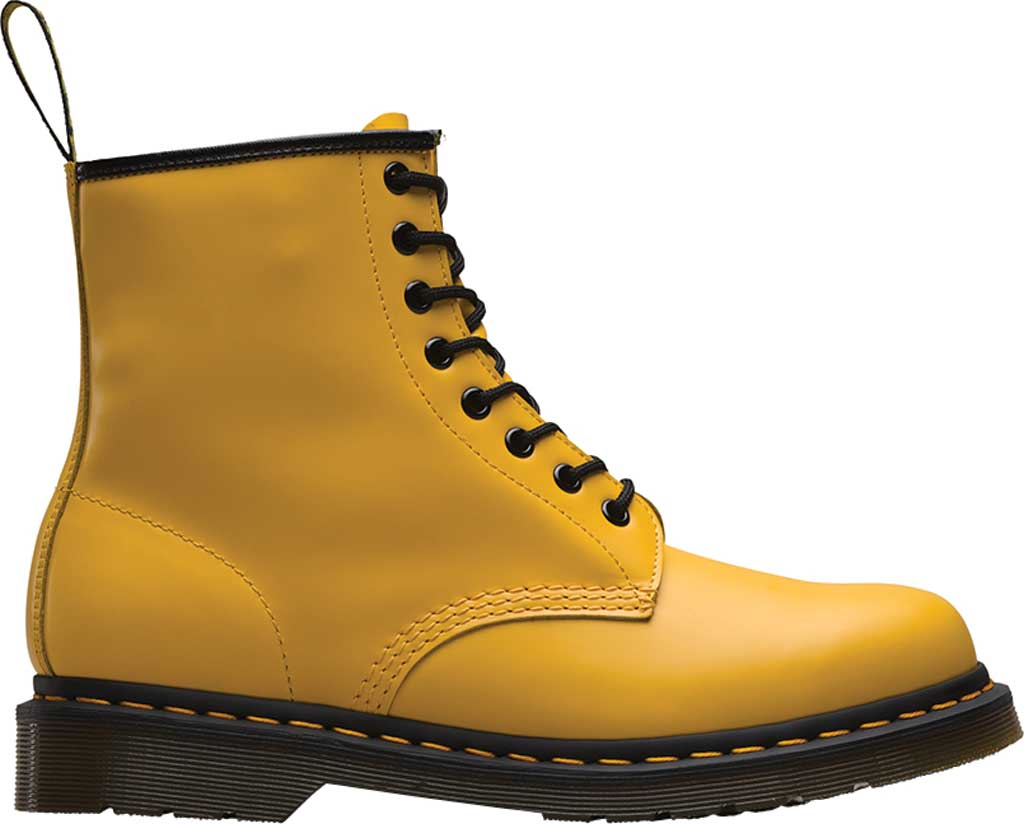 Dr. Martens 1460 8-Eye Boot, Yellow Smooth Leather, large, image 2