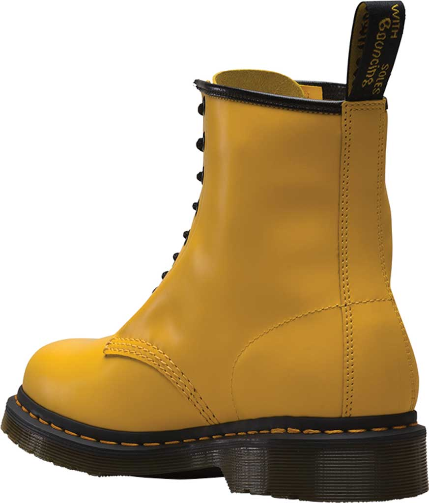 Dr. Martens 1460 8-Eye Boot, Yellow Smooth Leather, large, image 3