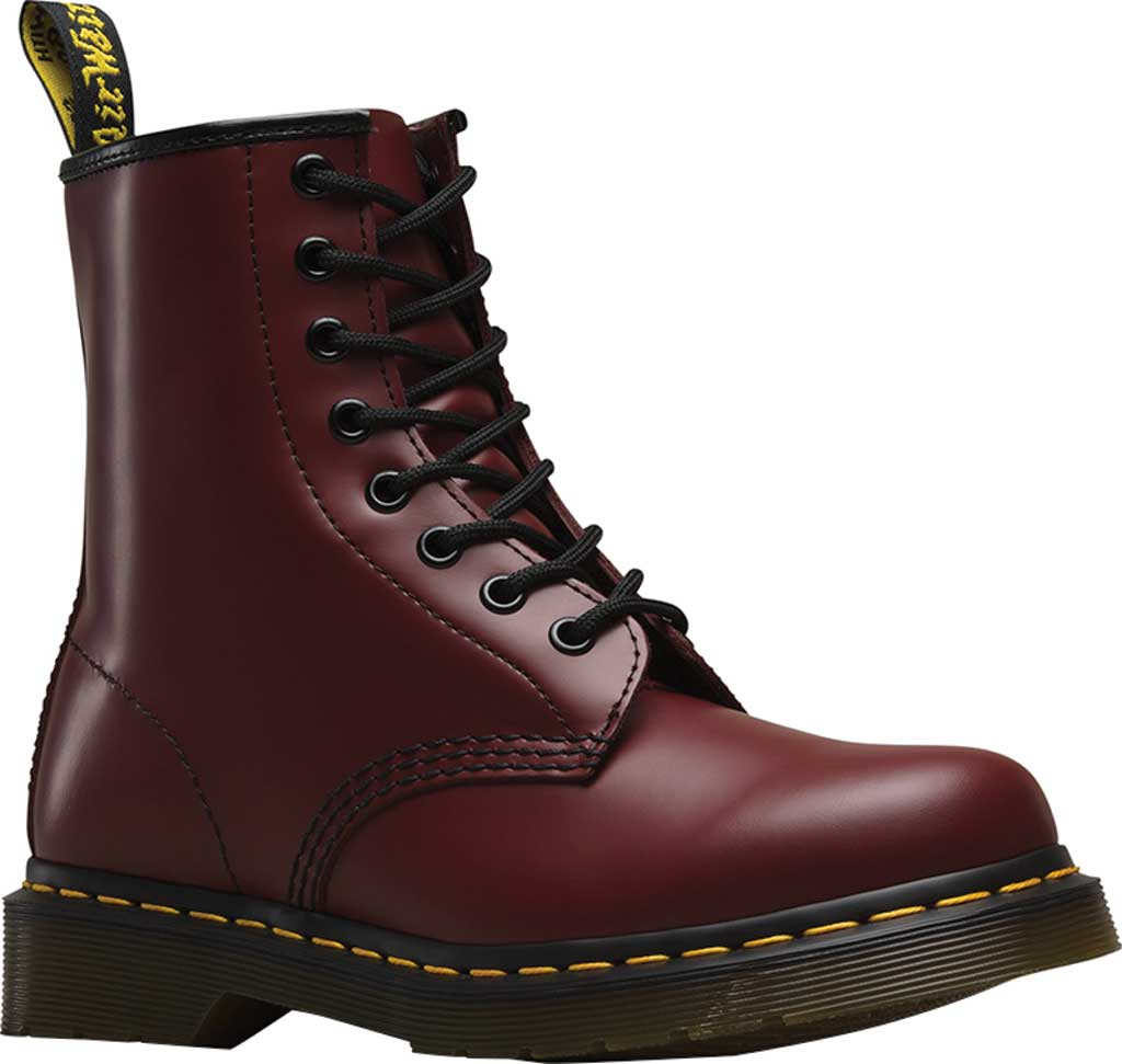 Dr. Martens 1460 8-Eye Boot, Cherry Red Smooth Leather, large, image 1
