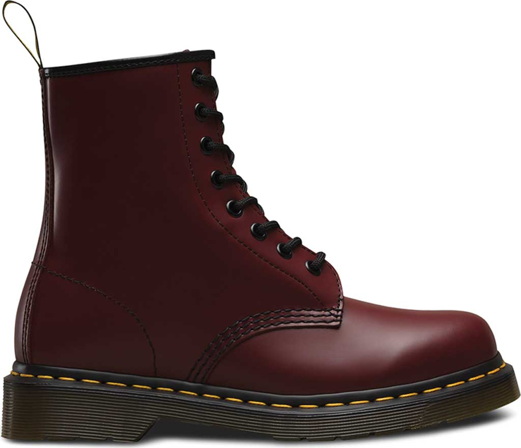 Dr. Martens 1460 8-Eye Boot, Cherry Red Smooth Leather, large, image 2