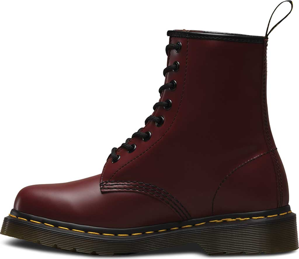 Dr. Martens 1460 8-Eye Boot, Cherry Red Smooth Leather, large, image 3