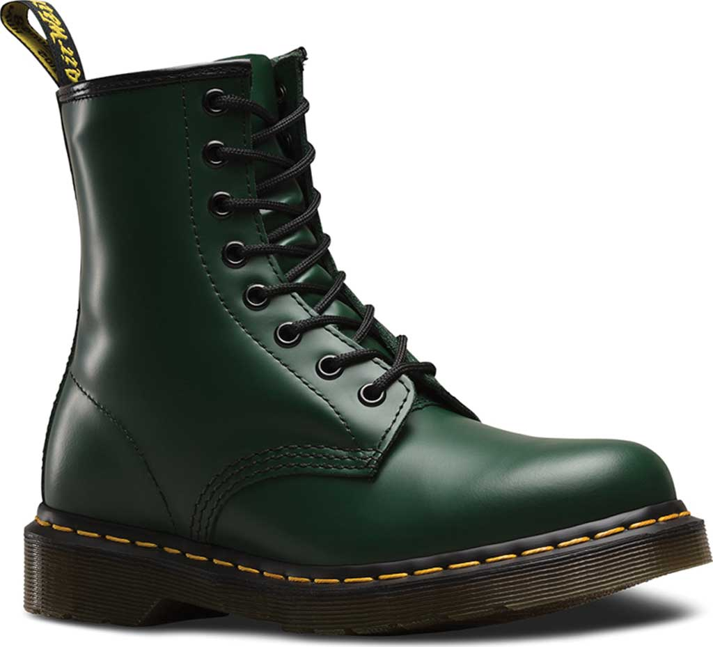 Dr. Martens 1460 8-Eye Boot, Green Smooth Leather, large, image 1