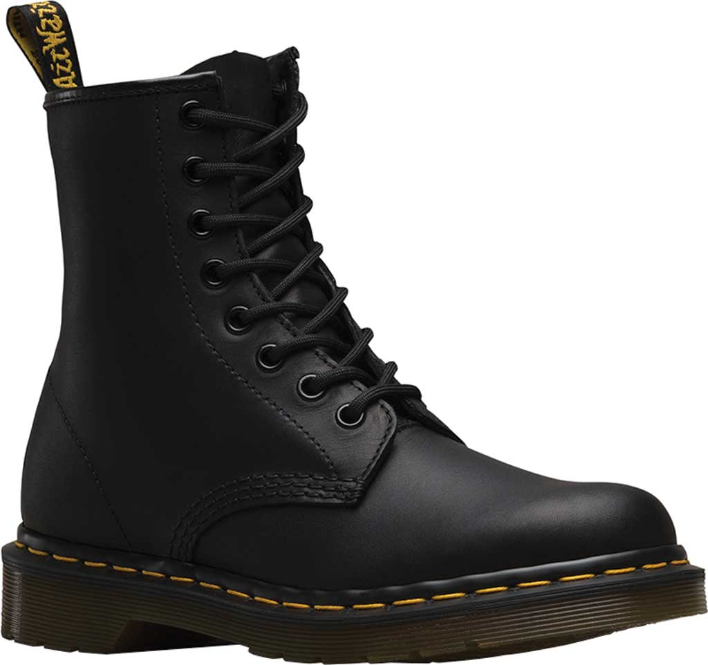 Dr. Martens 1460 8-Eye Boot, Black Greasy, large, image 1
