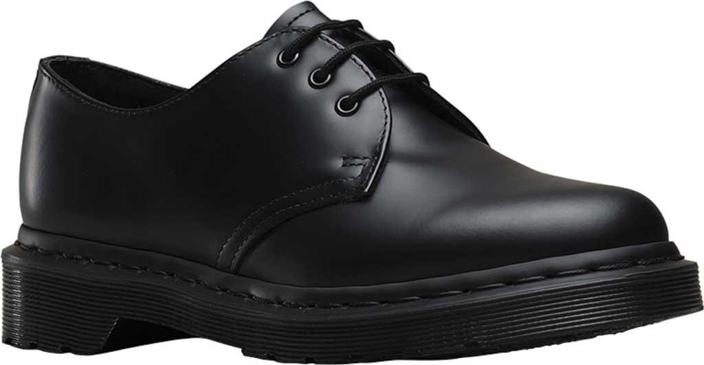 Dr. Martens 1461 3-Eye Shoe, Black Smooth Mono, large, image 1